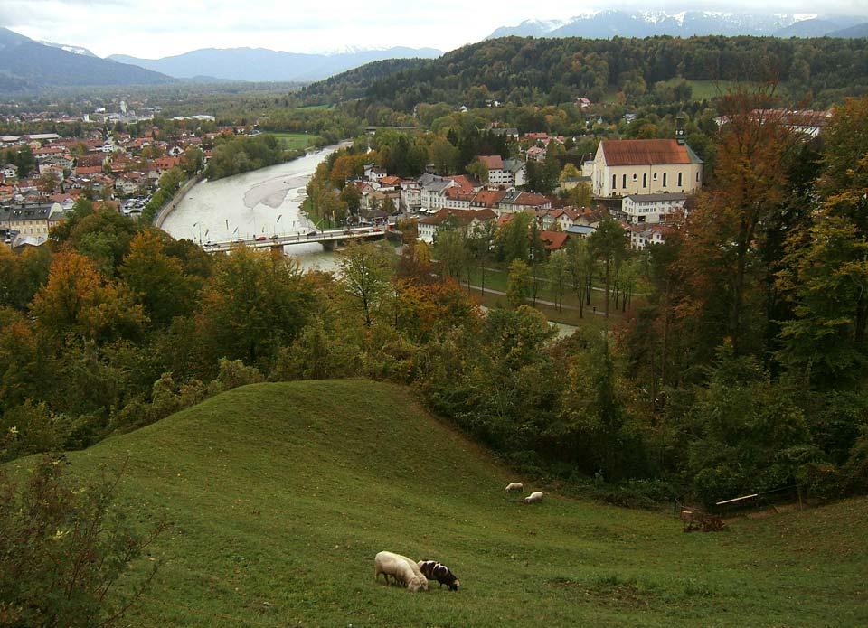 Blick vom Kalvarienberg auf die Stadt