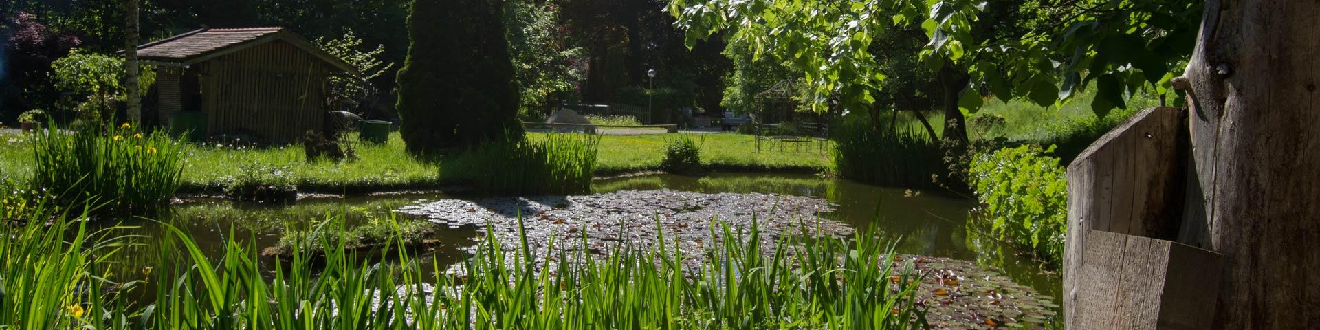 Malerhaus Bad Toelz - Garten mit Teich